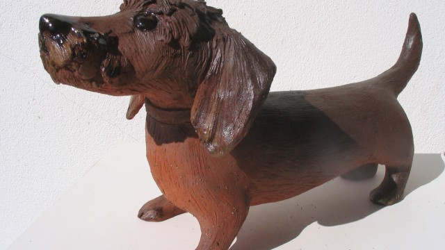 Hunde Skulpturen